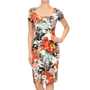 Miss & Missy Floral Printed Body Con Dress