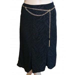 Metro Wear Black Skirt with Gold Belt